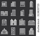 vector town and building icon... | Shutterstock .eps vector #313820723