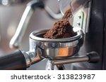 Coffee Grinder Grinding Freshl...
