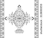 ethnic geometrical pattern ... | Shutterstock .eps vector #313830353