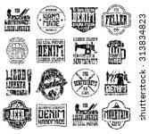 handcrafted badges in retro... | Shutterstock .eps vector #313834823