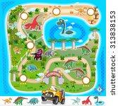 game assets prehistoric zoo map ... | Shutterstock .eps vector #313838153