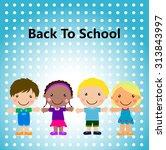 group of kids  back to school   Shutterstock .eps vector #313843997