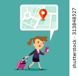 illustration of traveling... | Shutterstock .eps vector #313848527