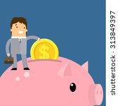 keep money concept. business... | Shutterstock . vector #313849397