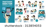 smartphone addiction. bad... | Shutterstock .eps vector #313854053