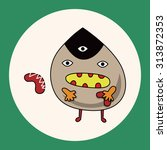 monster cartoon theme elements... | Shutterstock .eps vector #313872353