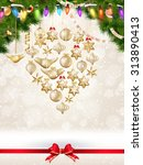 holidays greeting and christmas ... | Shutterstock .eps vector #313890413