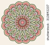 ornamental round lace pattern.... | Shutterstock . vector #313892237