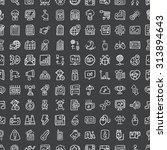 doodle web  seamless pattern...   Shutterstock .eps vector #313894643