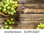 Bunch Of Green Grapes In The...