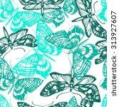 vintage vector seamless pattern ...   Shutterstock .eps vector #313927607