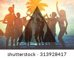 summer togetherness friendship... | Shutterstock . vector #313928417