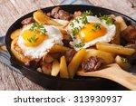 Austrian Food  Fried Potatoes...