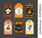 Set Of Halloween Gift Tags Wit...
