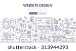 doodle design style concept of... | Shutterstock .eps vector #313944293