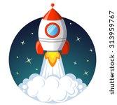 rocket launch. startup concept | Shutterstock .eps vector #313959767
