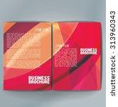 vector brochure template design ... | Shutterstock .eps vector #313960343