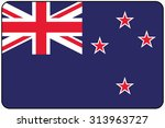 a flat design flag illustration ... | Shutterstock . vector #313963727