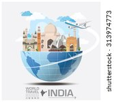 india landmark global travel... | Shutterstock .eps vector #313974773