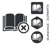 remove book icon set ...