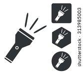 flashlight icon set  monochrome ...