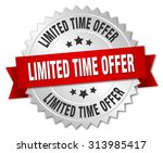 limited time offer 3d silver... | Shutterstock .eps vector #313985417