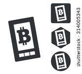 bitcoin screen icon set ...