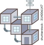 abstract modular house out of... | Shutterstock .eps vector #314006147