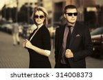 young fashion business couple... | Shutterstock . vector #314008373