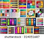colorful modern text box... | Shutterstock .eps vector #314051687