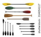 paddles and oars vector icons...   Shutterstock .eps vector #314054117