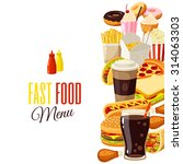 background with cartoon food ... | Shutterstock .eps vector #314063303