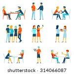friendship and brotherhood flat ... | Shutterstock .eps vector #314066087