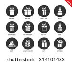 gift boxes vector icons set....   Shutterstock .eps vector #314101433