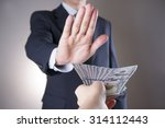 businessman with money in... | Shutterstock . vector #314112443
