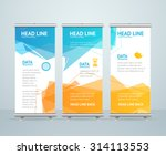 roll up banner stand design...