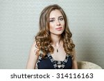 beauty portrait of young...   Shutterstock . vector #314116163