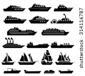 ship boat icons set | Shutterstock .eps vector #314116787