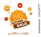 sale badge  autumn sale label ... | Shutterstock .eps vector #314129777