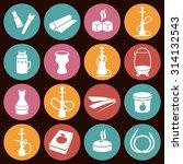 set of hookah icons. waterpipes ... | Shutterstock .eps vector #314132543