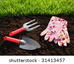 Gardening Tools  Fresh Grass...