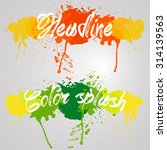 red and green color watercolors ...   Shutterstock .eps vector #314139563