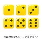 cartoon yellow dice in modern...   Shutterstock .eps vector #314144177