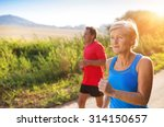 active seniors running outside... | Shutterstock . vector #314150657