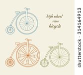 High Wheel Retro Bicycle...