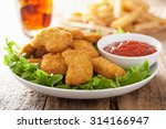 Fast Food Chicken Nuggets With...