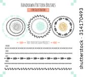 set with vector pattern hand... | Shutterstock .eps vector #314170493