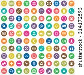 e commerce 100 icons universal... | Shutterstock . vector #314172593