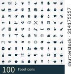 food 100 icons universal set... | Shutterstock . vector #314175257