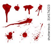 blood splatters | Shutterstock .eps vector #314176223